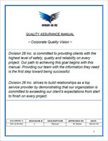 Division 26 Quality Assurance Manual
